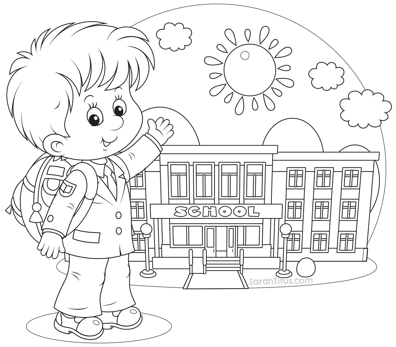 Free coloring pages for first grade - Back To School Coloring Pages Sarahtitus Com