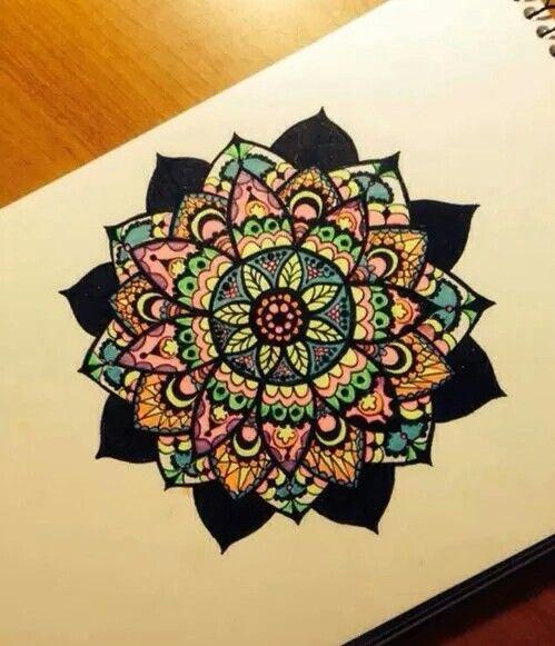 art, color, draw, mandala