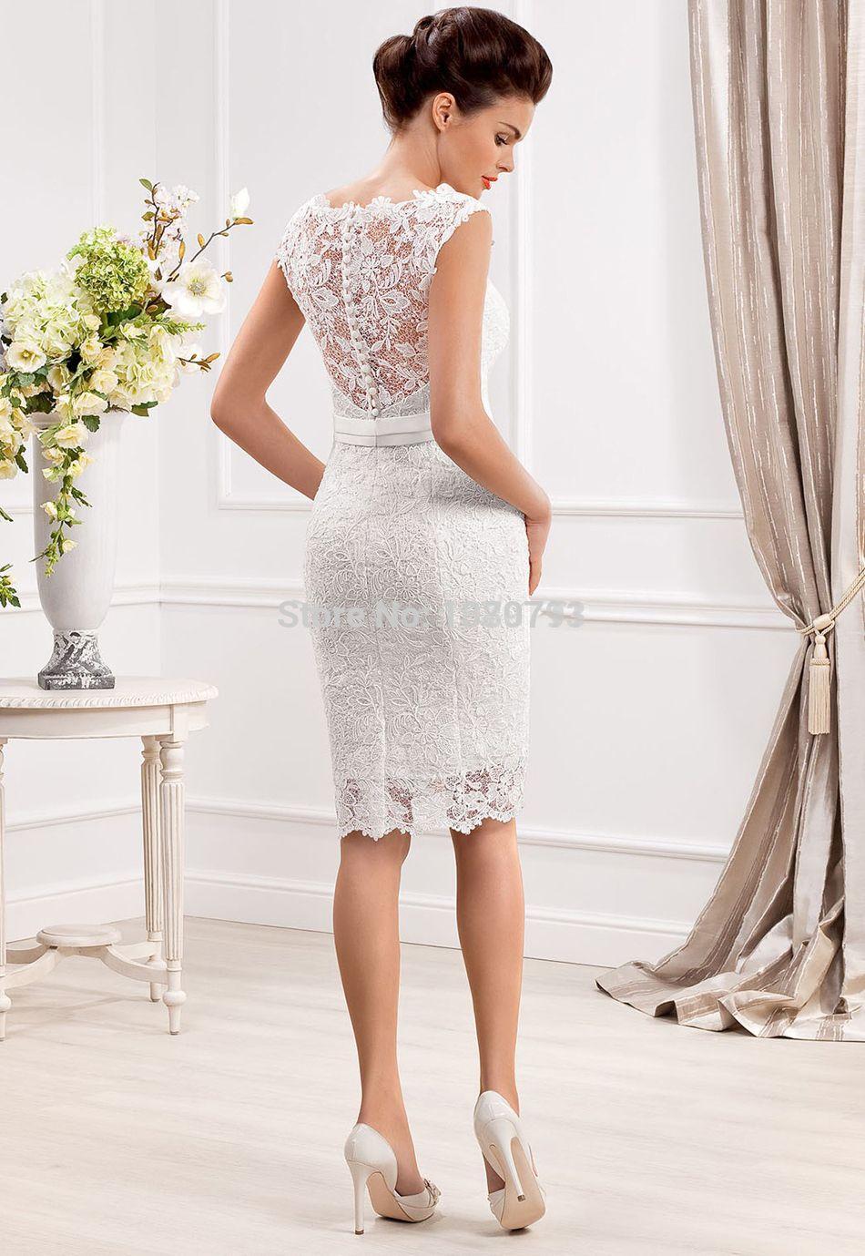 Aliexpress.com : Acquista Elegante sheer scoop scollatura abiti da ...