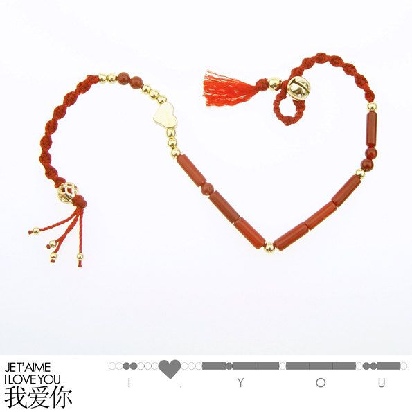 Bracelet i love you je taime code morse porte bonheur traditionnel bracelet i love you je taime code morse porte bonheur traditionnel chinois corail altavistaventures Choice Image