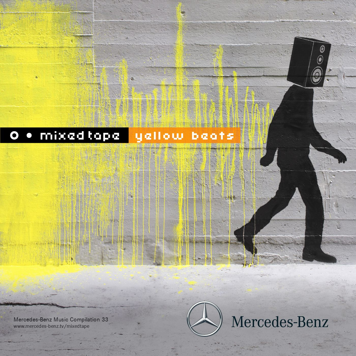 Mercedes Benz Mixed Tape #33 Yellow Beats Cover Art By Milk