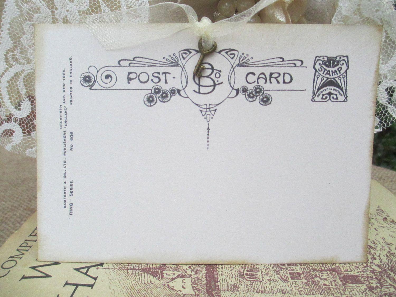 50 Vintage Postcard Wedding Placecard Escort Card Wedding Wish ...