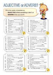 worksheet. Adjective And Adverb Worksheets. Grass Fedjp Worksheet ...