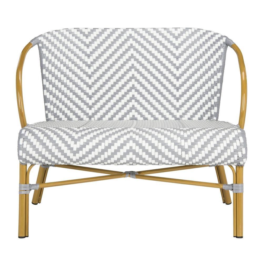 Outdoor Loveseat Patio Furniture, Safavieh Outdoor Furniture Gray