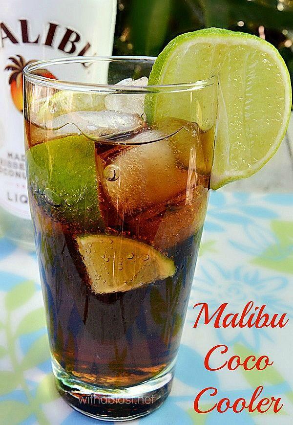 Malibu Coco Cooler Cocktail Summerdrink Drinks In 2018