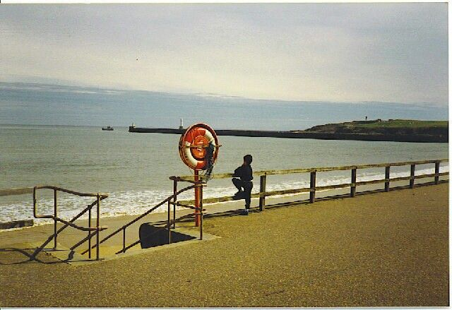 Aberdeen Promenade (1990) Looking south-east as a boat leaves harbour. pic Colin Smith