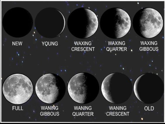 Image result for image of a waxing crescent moon