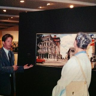 Queen Margrethe II of Denmark at the Photorealism show in Denmark