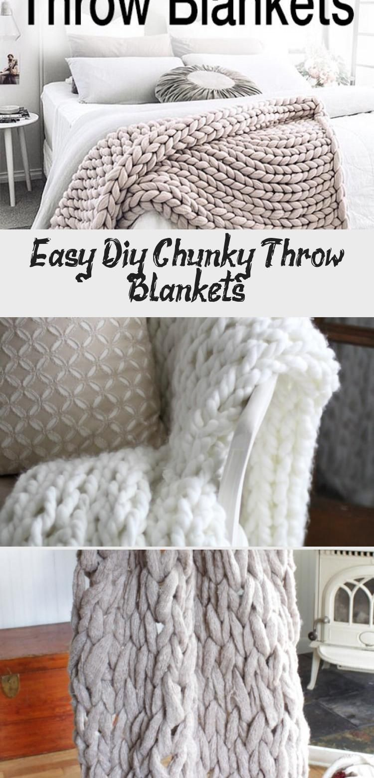Easy DIY Chunky Throw Blankets! • See how affordable and