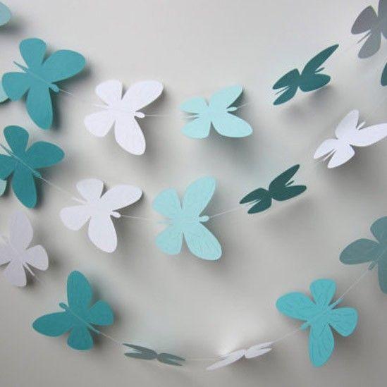guirnalda de mariposas de cartn guirnaldas decoracin disea tu boda una boda