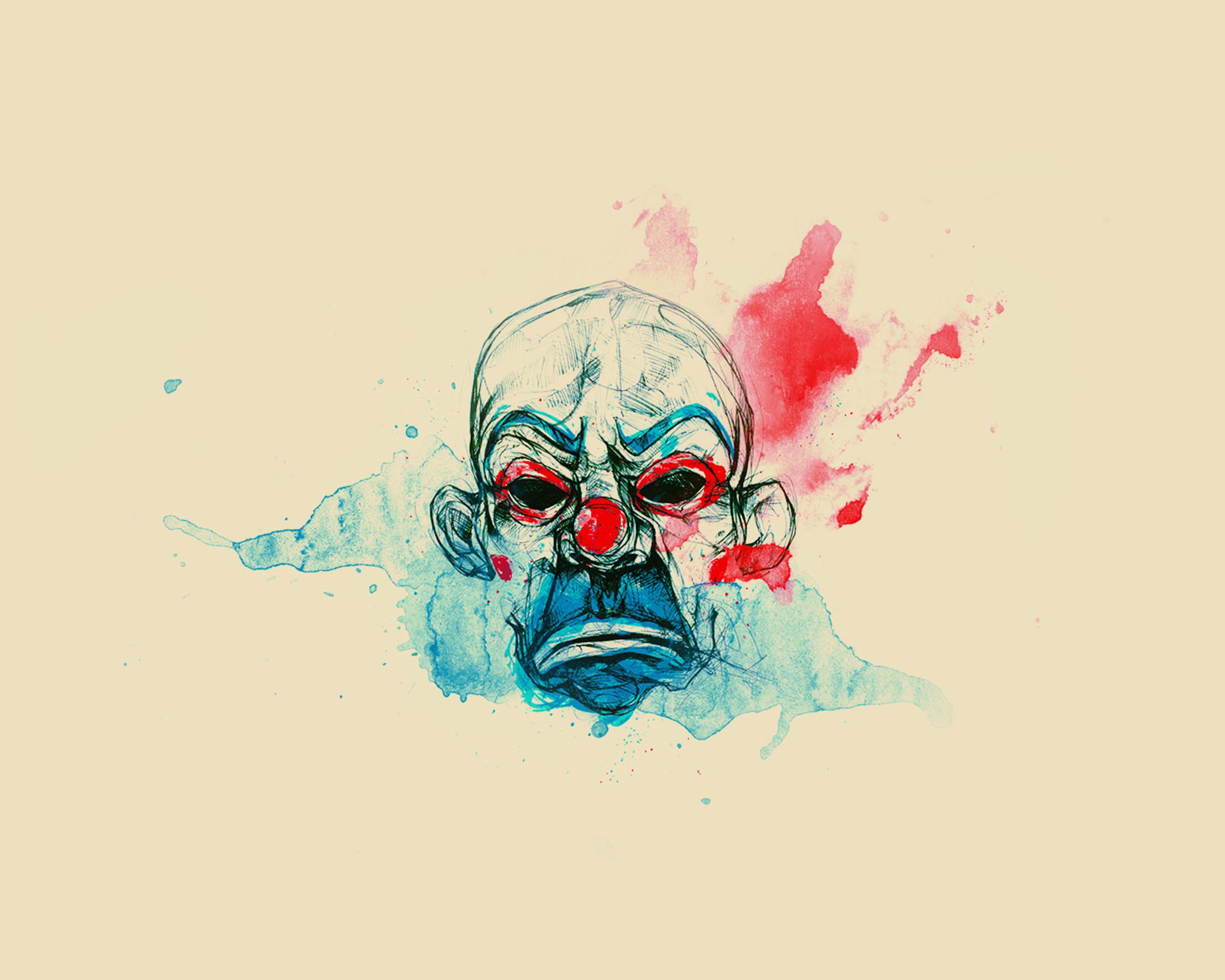splatter clown paint art android wallpaper mobile9
