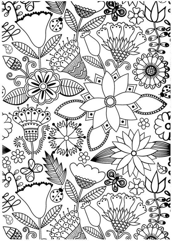 anti stress coloring book coloring pages - Stress Coloring