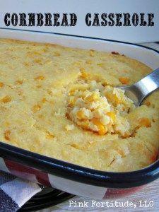 Cornbread Casserole Recipe by coconutheadsurvivalguide.com
