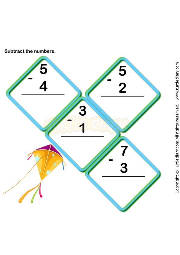 Subtraction Four Worksheets Kindergarten Subtraction Worksheets Math Worksheets Kindergarten Worksheets
