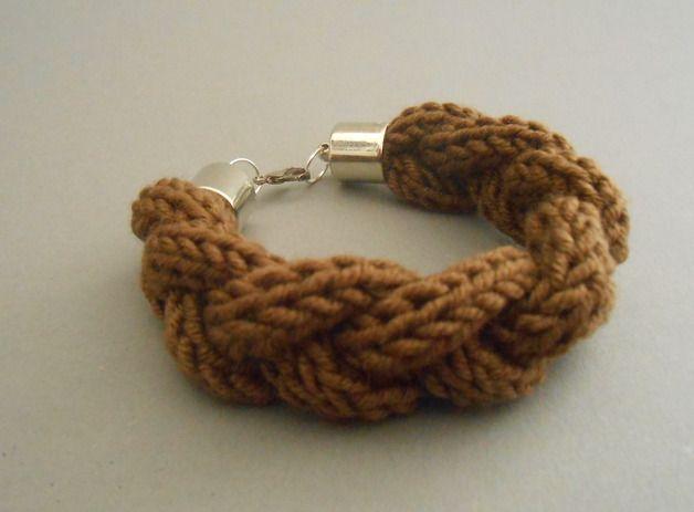 Strickliesel*Armband - *Olivia* - Farbe: nougat - 10,00€