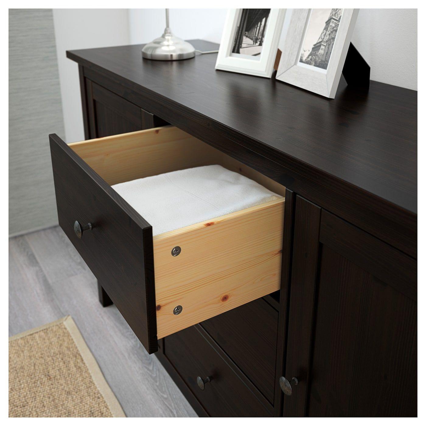 IKEA HEMNES Sideboard blackbrown Black sideboard