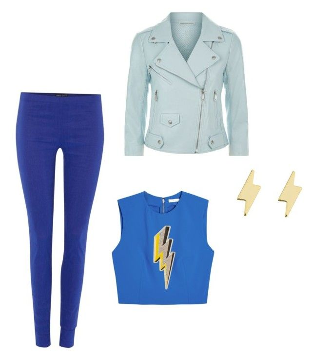 """Blue Lightening"" by minadream on Polyvore featuring Sarah Pacini, Rebecca Minkoff, Alice + Olivia, Anya Hindmarch and Erica Weiner"