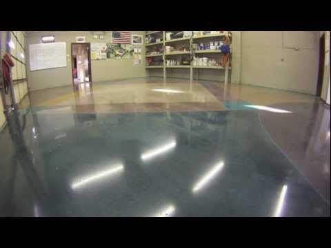 How to stain polish concrete floors home ideas for Best wax for stained concrete floors