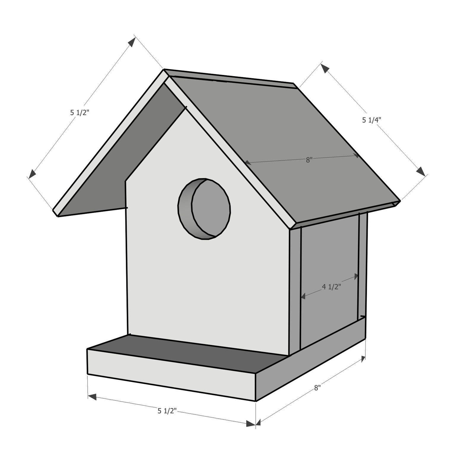 How to Build a Birdhouse in 2020 Bird houses, Bird house