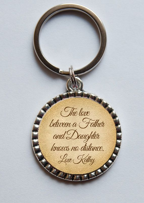 Personalized Keychain For Dad Quote Key Chain From Daughter To Father Of The Bride Gift
