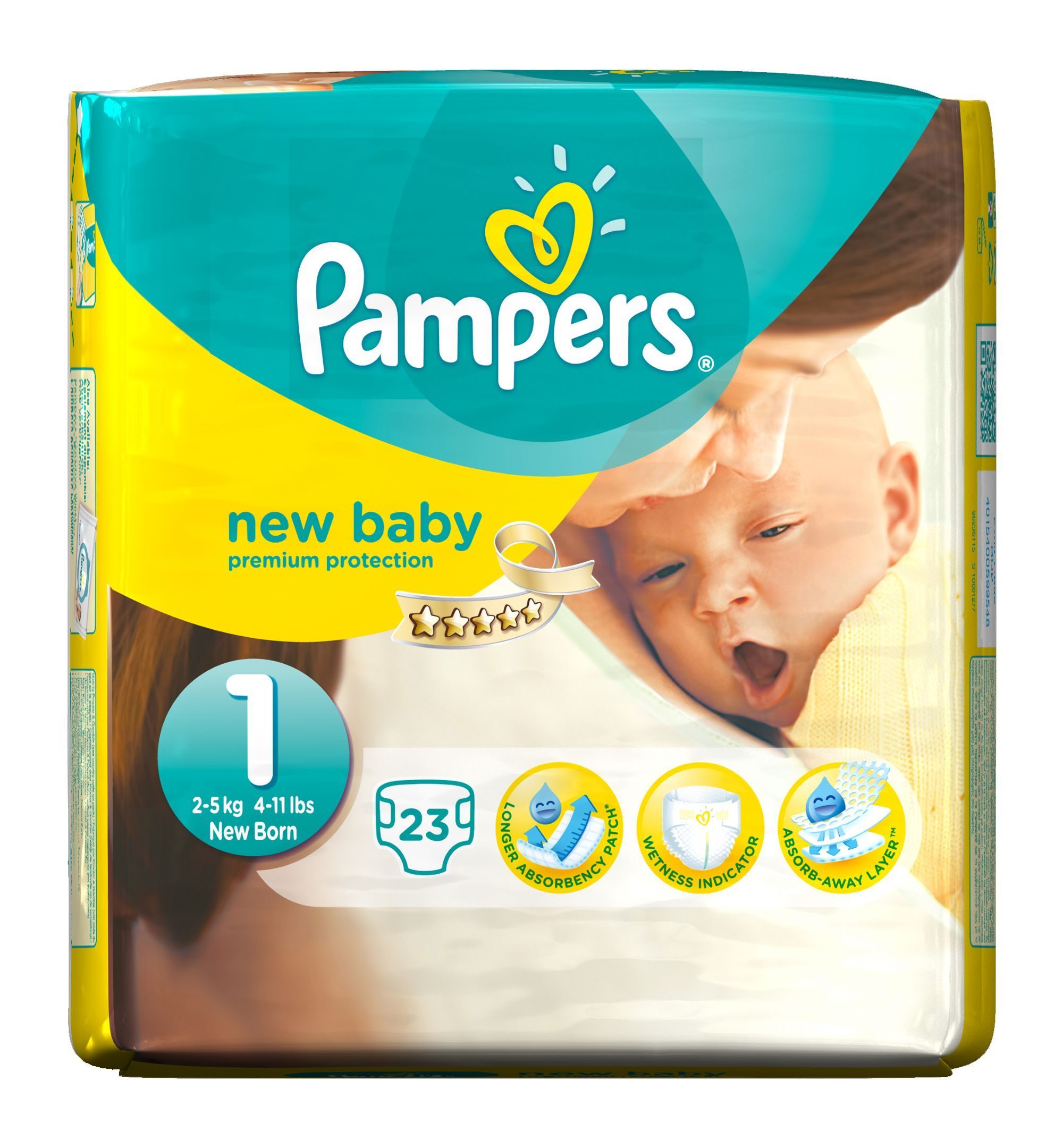 pampers new baby size 1 newborn nappies 2 5kg 4 11lbs