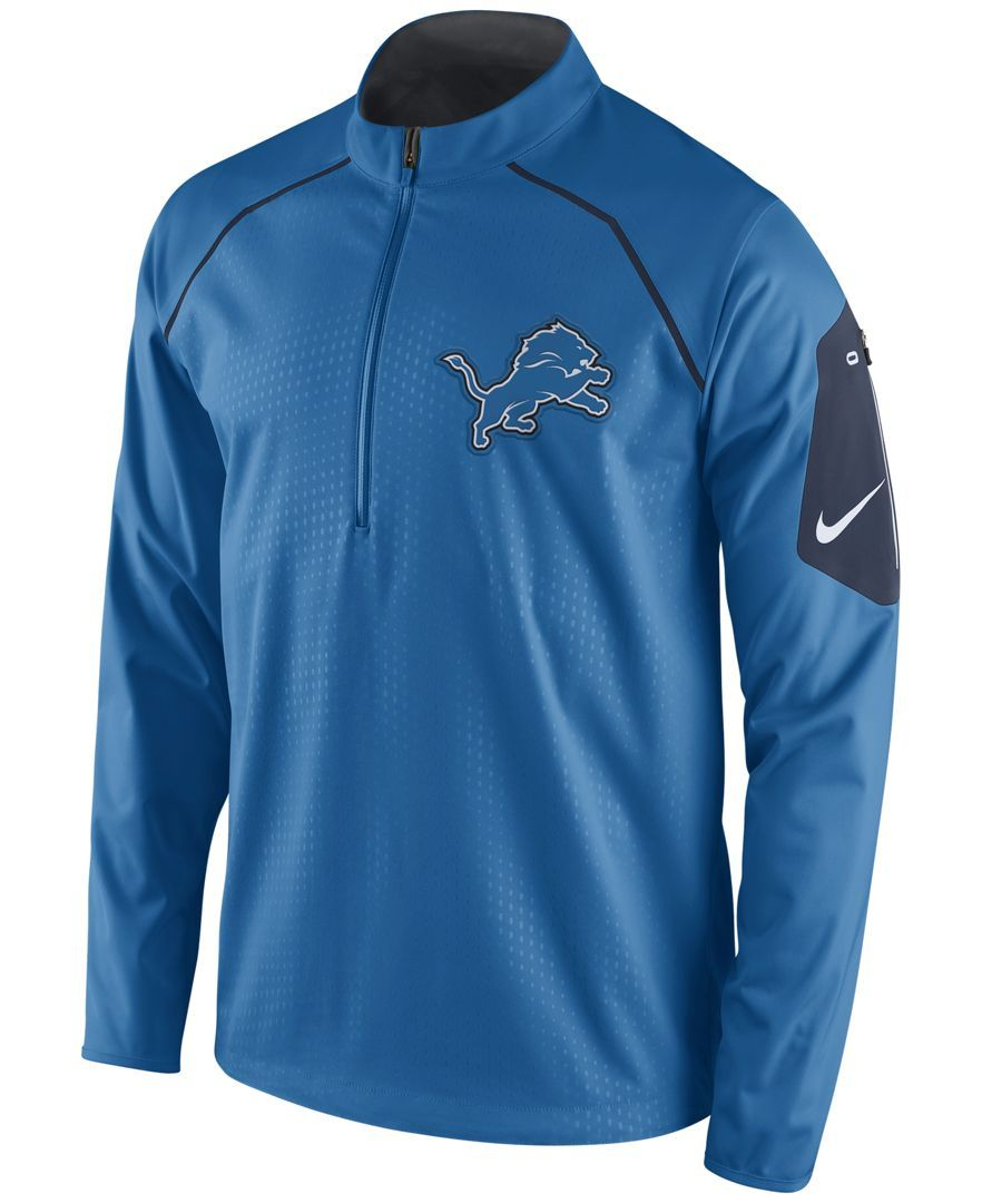 Carolina Panthers Nike Half Zip Fan Gear Anorak Jacket Blue