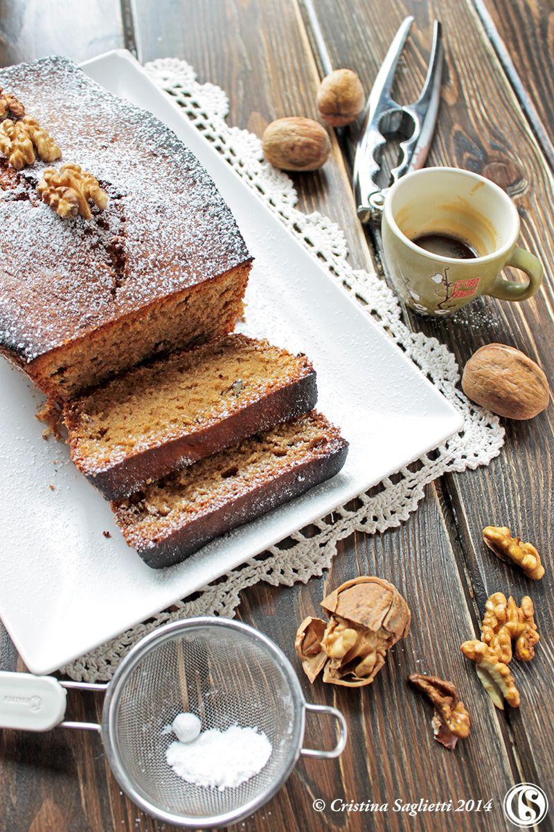 Plumcake al caffè e noci con zucchero caramellato alla cannella -coccole d'autunno-