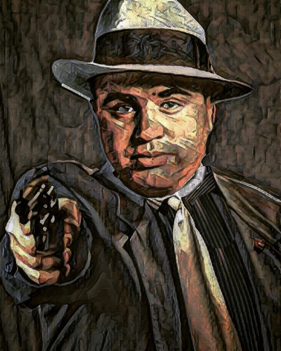 Al Capone You Can Get Much Farther With A Kind Word And Gun Than Alone Art Mryellowbalaclava Alcapone Mafia Chicago
