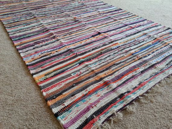 Sale Perfect Rag Rug Large Scrap Multi By Yourgreateststory Rag Rug Large Rugs Rugs