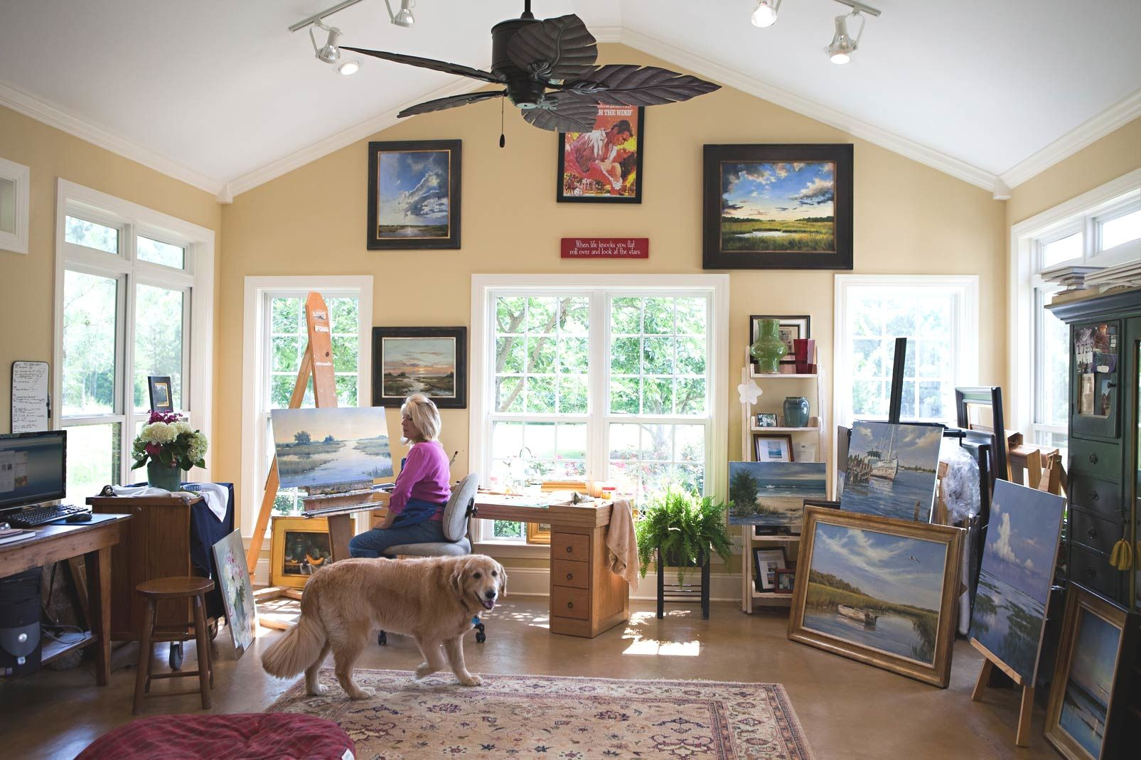 Small Artist Studio Ideas Studio Desk. office ideas home