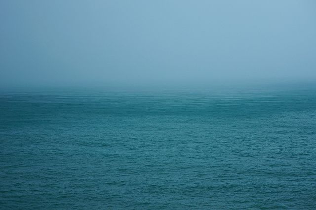 rainy mist over the sea by Lenull, via Flickr