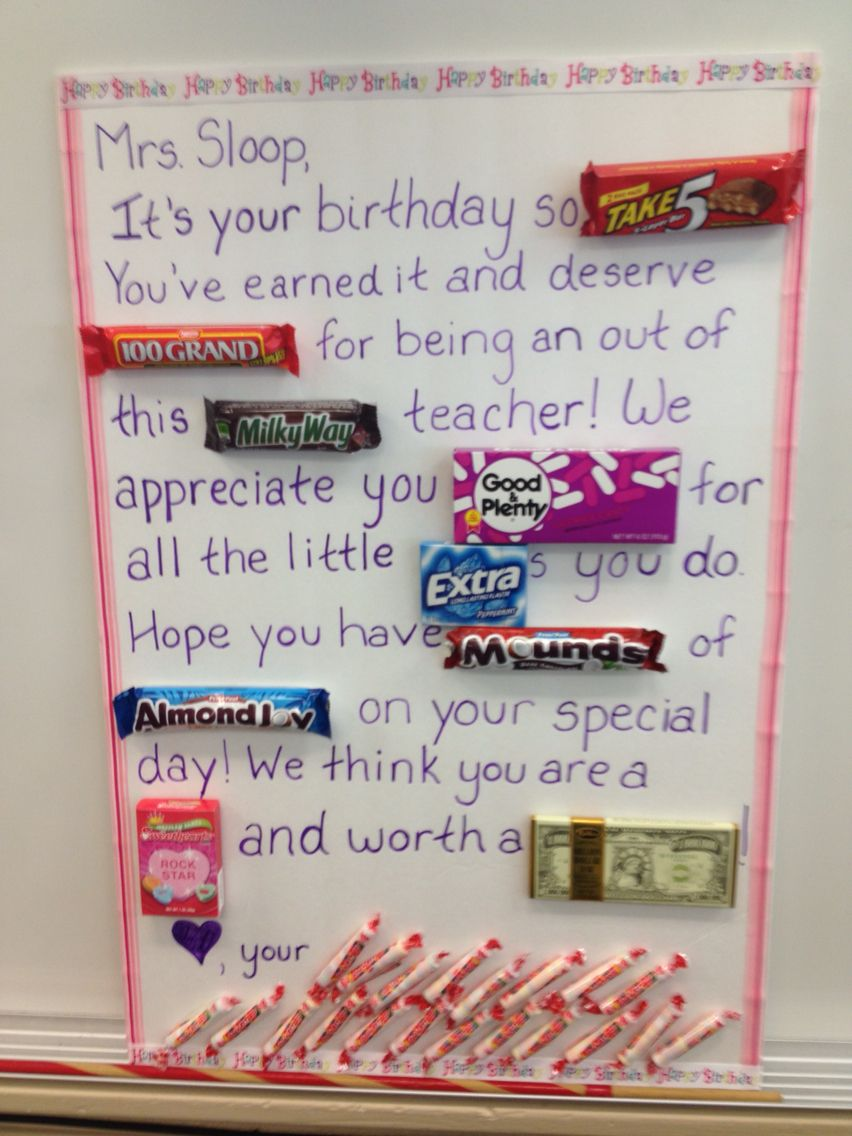 Candy Bar Teacher Card Ideas For The Teachers Candy