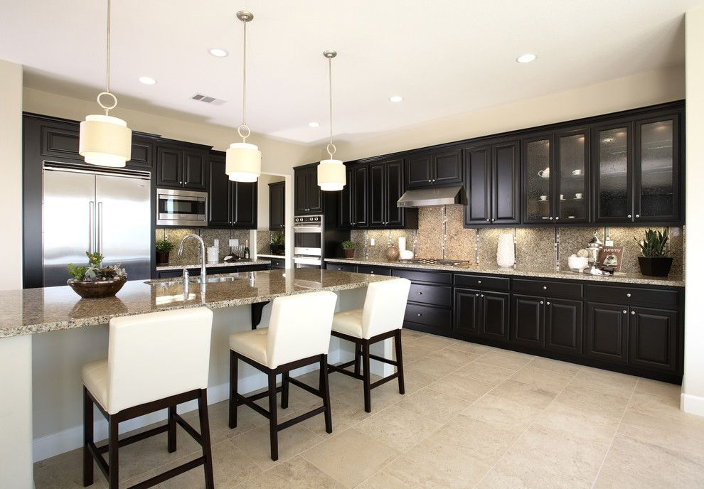 Custom Black Kitchen Cabinets kitchen-paint-colors-with-dark-cabinets-kitchen-traditional-with