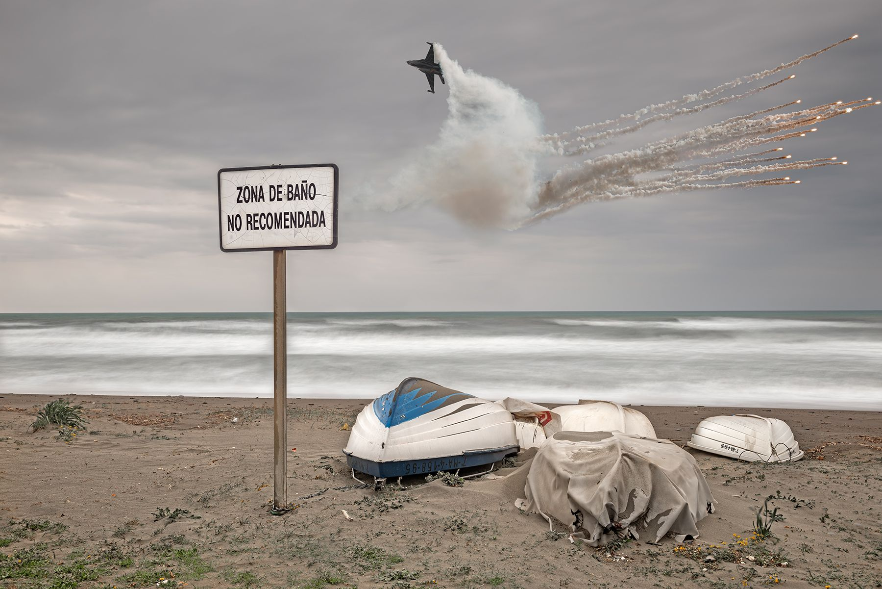 Acrobacia aérea y cohetes – cielos rotos –