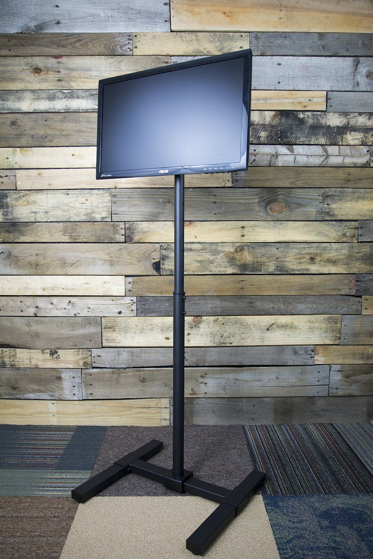 Amazon Com Vivo Tv Display Portable Floor Stand Height Adjustable