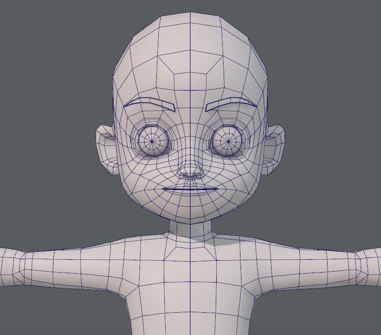 Base Mesh Boy Character V05 3d Model 3d Character Boy Character 3d Model