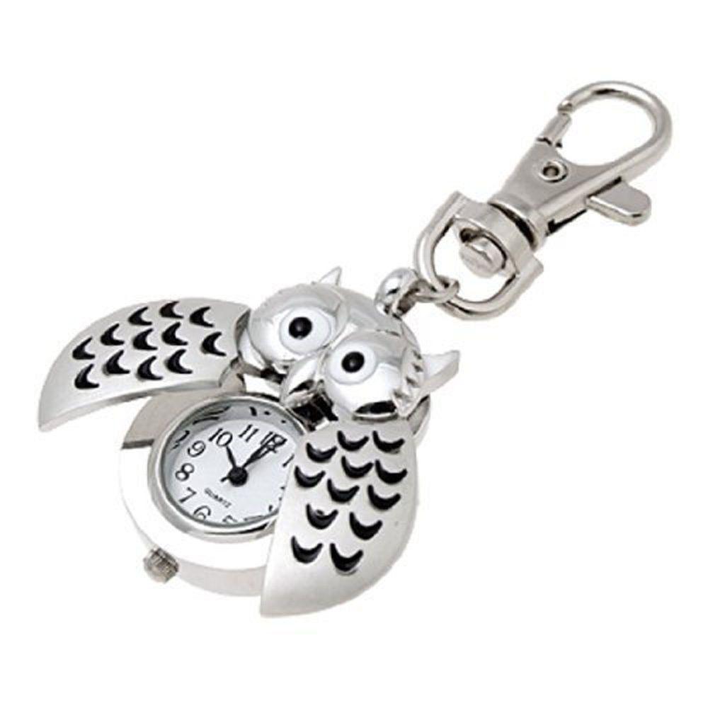 Elegant Gorgeous Owl Watch Clip Pocket Watch Keychain Best Gift Wk ... b7d9c4a6f4