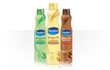 Vaseline has a new Spray & Go skincare line and it rocks!