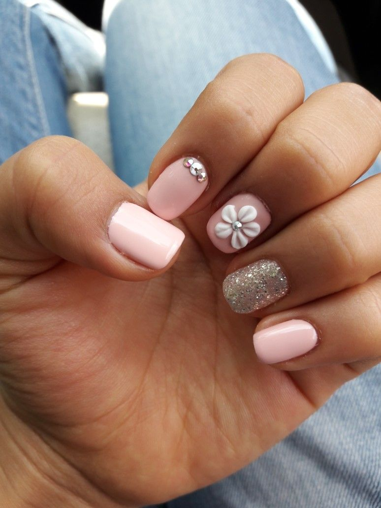 Gelish simple pink sweet nails pinterest nails pink nails and