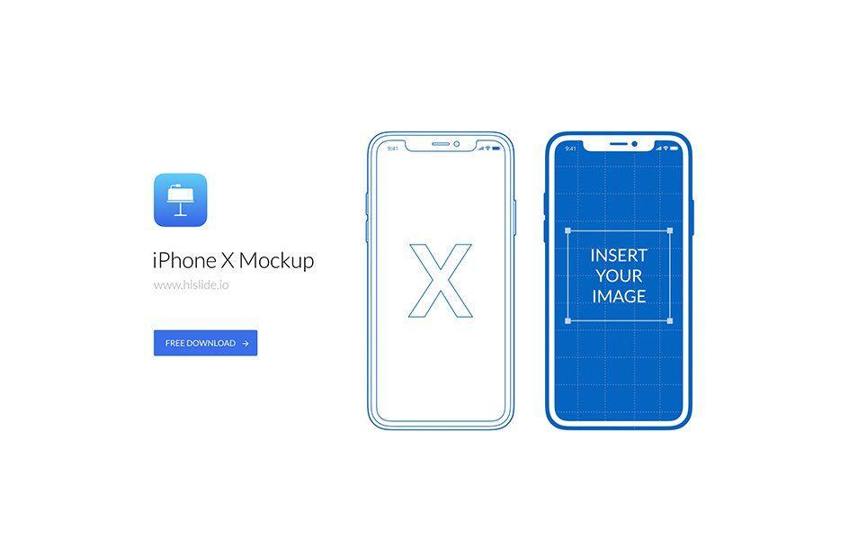 iPhone X Mockup for Keynote Mockup templates, Mockup, Iphone