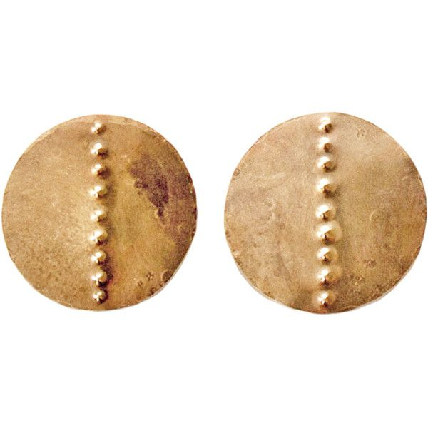 Laurel Hill Petroglyph Disc Earrings (4.050 RUB) ❤ liked on Polyvore featuring jewelry, earrings, disc earrings, earring jewelry, disc jewelry and earrings jewellery