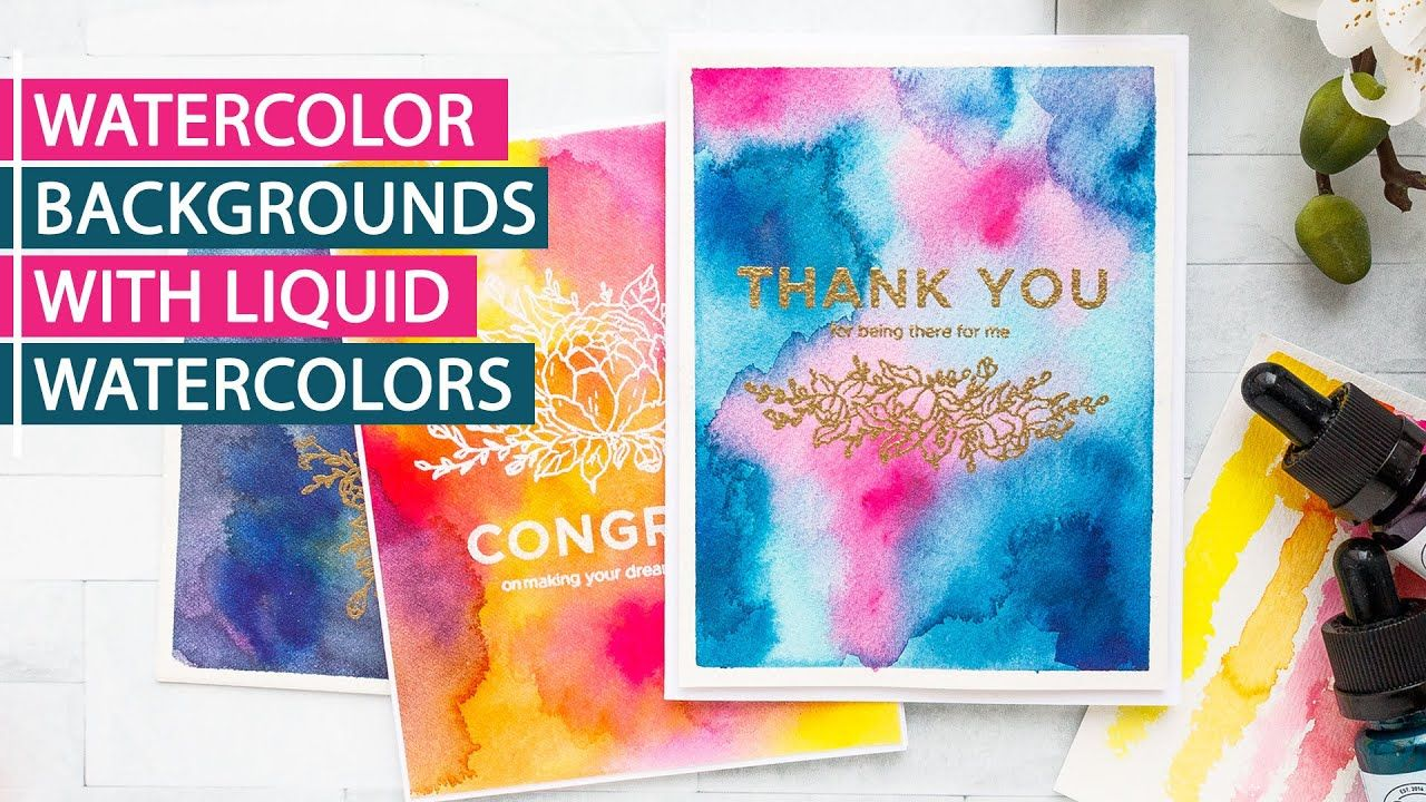 Watercolor Backgrounds With Liquid Watercolors Watercolor
