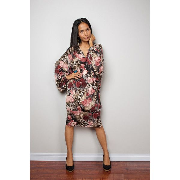 Short Dress Short Floral Dress Boho Wide Sleeve Midi Dress Funky... ($49) ❤ liked on Polyvore featuring dresses, grey, women's clothing, short cocktail dresses, cocktail mini dress, midi cocktail dress, gray cocktail dress and sexy cocktail dresses