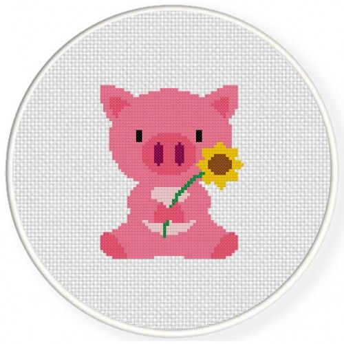 Pig Cross Stitch Pattern