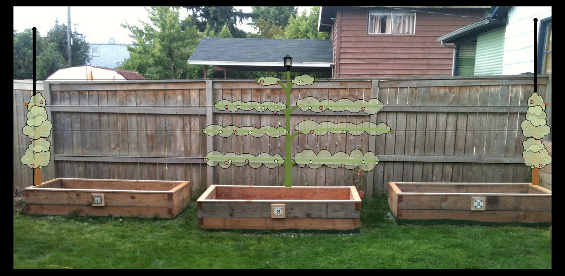 Small Of Fence Garden Planters