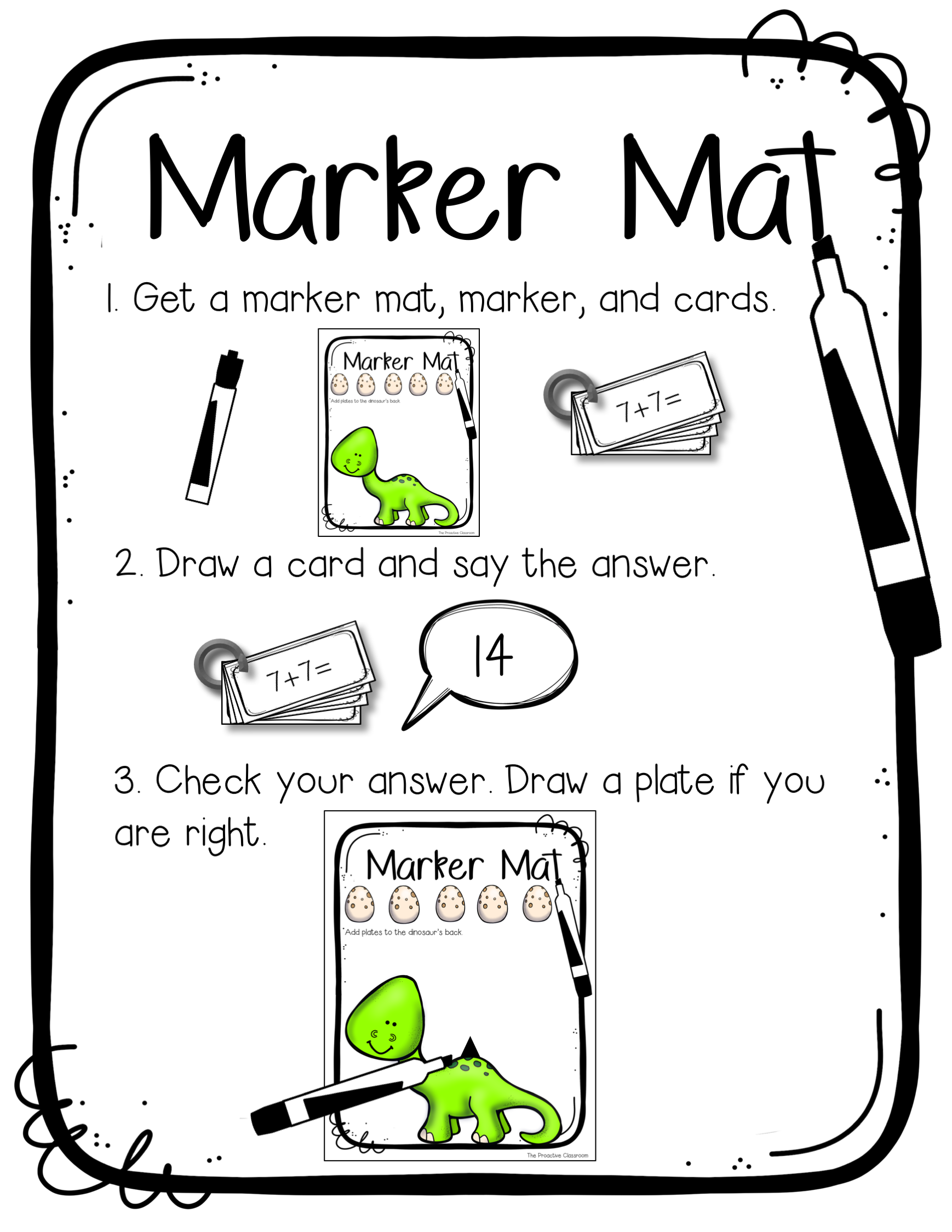 Marker Mat Fact Fluency Within 20 Station