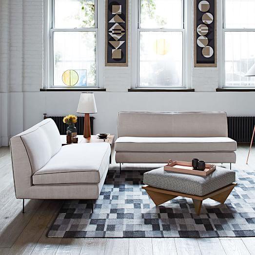 Fine Commune Armless Sofa 60 5 West Elm Dining Furniture Bralicious Painted Fabric Chair Ideas Braliciousco