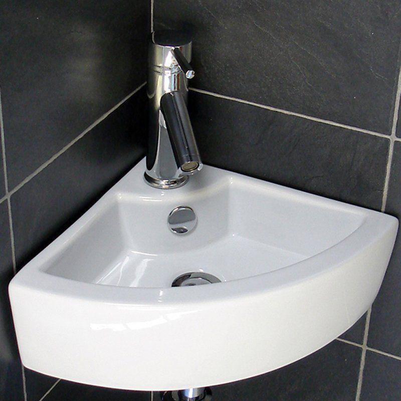 Small Cloakroom basins UK Modern Bathroom Counter Top Ceramic White Basin