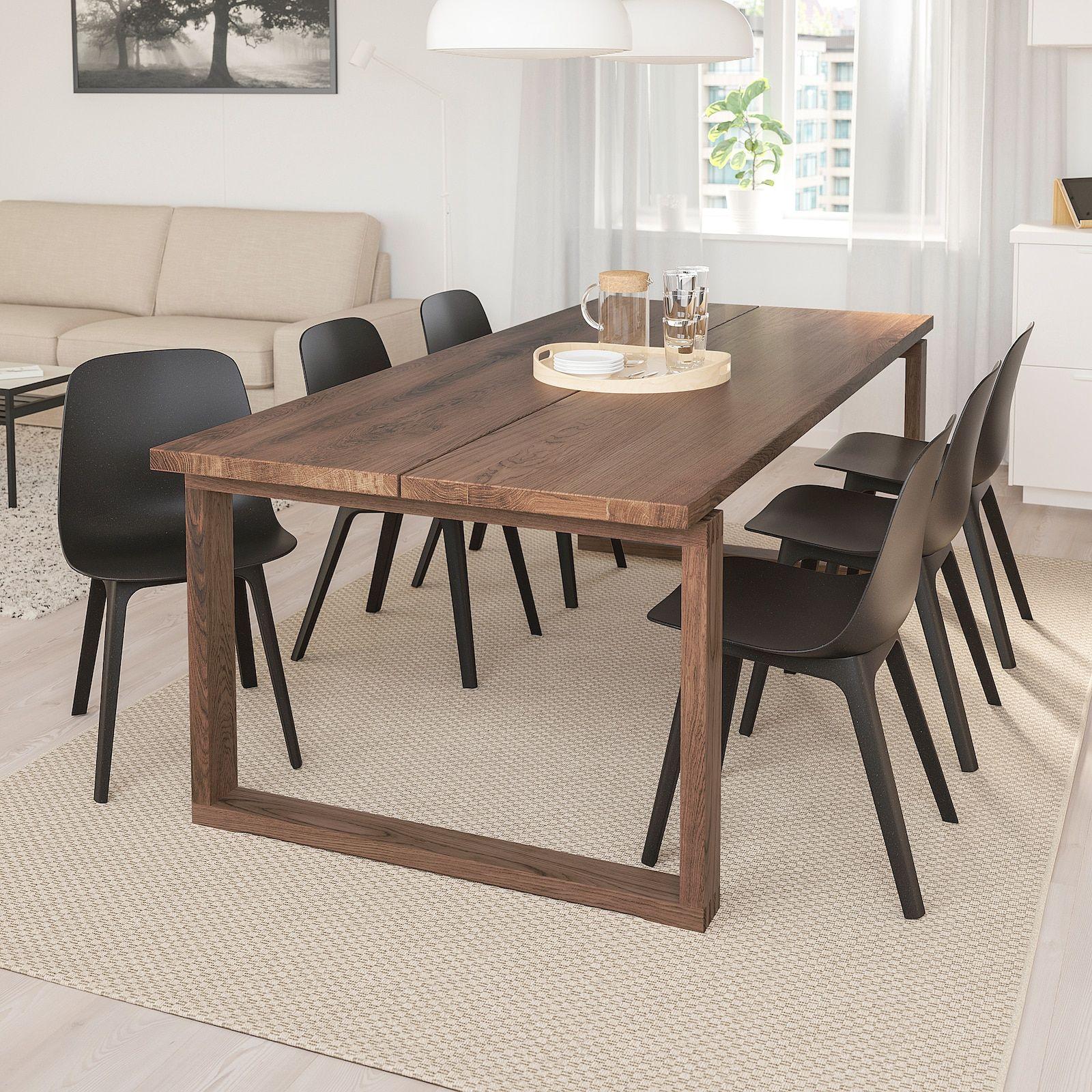 "MÖRBYLÅNGA / ODGER Table and 6 chairs, oak veneer/anthracite, 865/8x393/8"" - IKEA"
