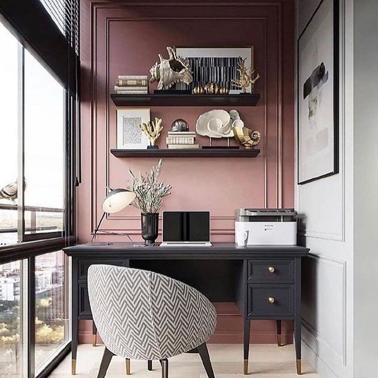 """Photo of Bonytt on Instagram: """"For et vakkert kontorhjørne! Og det beste er jo at en tilsvarende løsning er fullt oppnåelig, enten du har liten eller stor plass! Takk for…"""""""